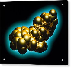 Lsd Drug Molecule Acrylic Print by Laguna Design