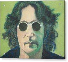 Lsd John Lennon Acrylic Print by Fernando A Hernandez