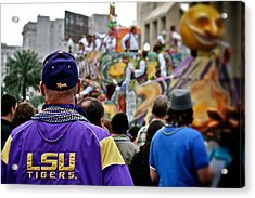 Acrylic Print featuring the photograph Lsu Mardi Gras  by Jim Albritton