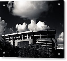 Lsu Tiger Stadium Black And White Acrylic Print by Maggy Marsh