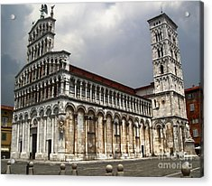 Lucca Italy - San Michele In Foro Acrylic Print by Gregory Dyer