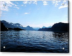 Acrylic Print featuring the photograph Lucerne Lake by Pravine Chester