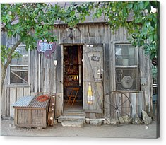 Acrylic Print featuring the photograph Luckenbach Texas 2006 by Elizabeth Sullivan