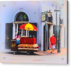 Lucky Dogs - Bourbon Street Acrylic Print by Bill Cannon