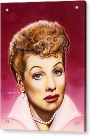 Lucy Acrylic Print by Timothy Scoggins