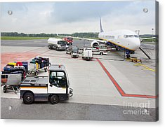 Luggage Transported To An Airprot Acrylic Print by Jaak Nilson