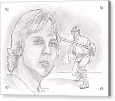 Luke Skywalker - Farmboy Acrylic Print by Chris  DelVecchio