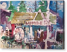 Lumber Mill Acrylic Print by Micheal Jones