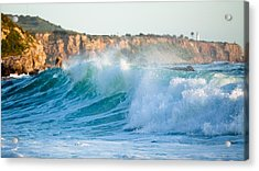 Lunada Bay Ocean Spray Acrylic Print