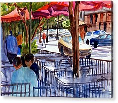Lunch Alfresco Acrylic Print by Ron Stephens