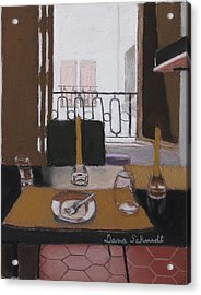Lunch In Our Rented Paris Flat Acrylic Print