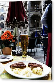 Lunch Time In Munich Germany Acrylic Print by Tanya  Searcy