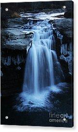 Acrylic Print featuring the photograph Lundbreck Falls by Alyce Taylor