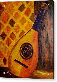 Lute By The Window Acrylic Print by Oscar