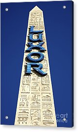 Luxor Las Vegas Obelisk Acrylic Print