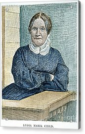 Lydia Maria Child (1802-1880) Acrylic Print by Granger