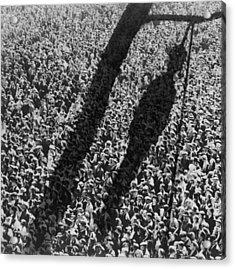 Lynching. The Shadow Of Lynching Acrylic Print by Everett