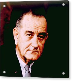 Lyndon B. Johnson 1908-1972, U.s Acrylic Print by Everett