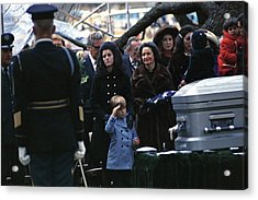 Lyndon Johnson Funeral. Lyn Nugent Acrylic Print by Everett