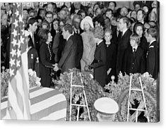 Lyndon Johnson Funeral. President Nixon Acrylic Print