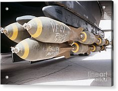 M-117 Bombs Loaded Onto A B-52g Acrylic Print