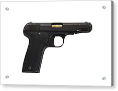 Mab Model D French Police Issue Pistol Acrylic Print by Andrew Chittock