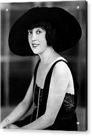 Mabel Normand, 1921 Acrylic Print by Everett