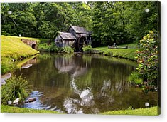 Mabry Mill And Pond Acrylic Print