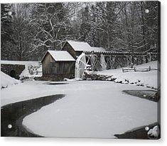 Mabry Mill On Ice Acrylic Print