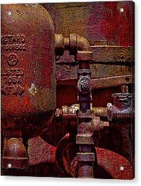 Machinery Grunge Acrylic Print