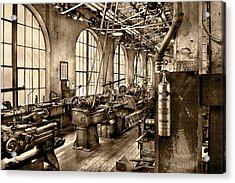 Machinist - Safety First  Acrylic Print
