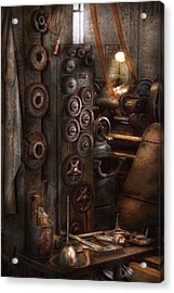 Machinist - Steampunk - You Got Some Good Gear There Acrylic Print by Mike Savad