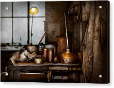 Machinist - Tool - Got Oil  Acrylic Print by Mike Savad