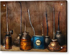 Machinist - Tools - Lubrication Dispensers  Acrylic Print by Mike Savad