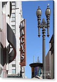 Macys Department Store In San Francisco Acrylic Print by Wingsdomain Art and Photography