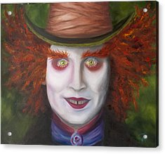 Mad As A Hatter Acrylic Print by Thea Wolff