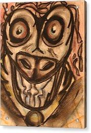 Mad Cow Disease Acrylic Print by Shadrach Ensor