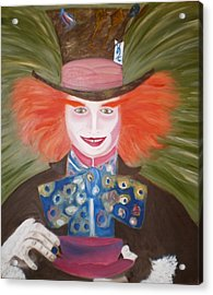 Mad Hatter  Acrylic Print by Shannon Schow