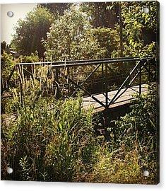 Maddox Bridge Acrylic Print by Jeff Guilkey