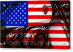 Made In The Usa . Harley-davidson . 7d12759 Acrylic Print by Wingsdomain Art and Photography
