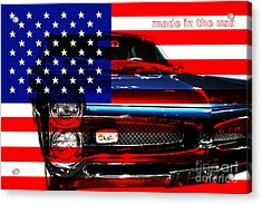 Made In The Usa . Pontiac Gto Acrylic Print by Wingsdomain Art and Photography