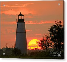 Madisonville Lighthouse Sunset Acrylic Print