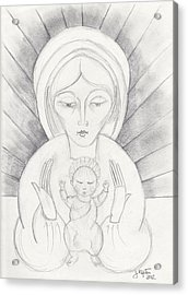 Madonna And Child Acrylic Print by John Keaton