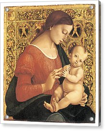 Madonna And Child Acrylic Print by Luca Signorelli