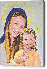 Madonna And Child Acrylic Print by Susan  Clark