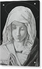 Madonna At Prayer Acrylic Print by Miguel Rodriguez