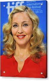 Madonna At The Press Conference Acrylic Print by Everett