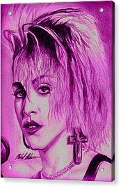 Madonna Acrylic Print by Michael Mestas