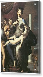 Madonna With The Long Neck Acrylic Print by Parmigianino