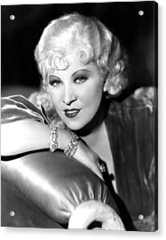 Mae West, Portrait Acrylic Print by Everett